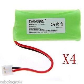 4X Floureon Uniden BT-1011 Cordless Phone Battery 2.4V 900mAh Ni-MH Fruit Green - fruit green