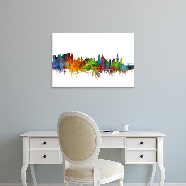 Easy Art Prints Michael Tompsett's 'Salzburg Austria Skyline' Premium Canvas Art