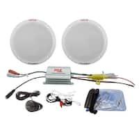 "Pyle Marine 6.5"" Speaker System 2CH Amp 400W Max"
