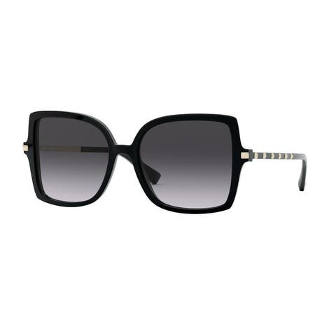Valentino VA4072F 50018G 56 Black Woman Square Sunglasses
