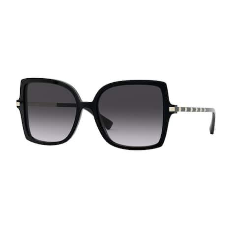 Valentino VA4072F 50018G 56 Black Woman Square Sunglasses