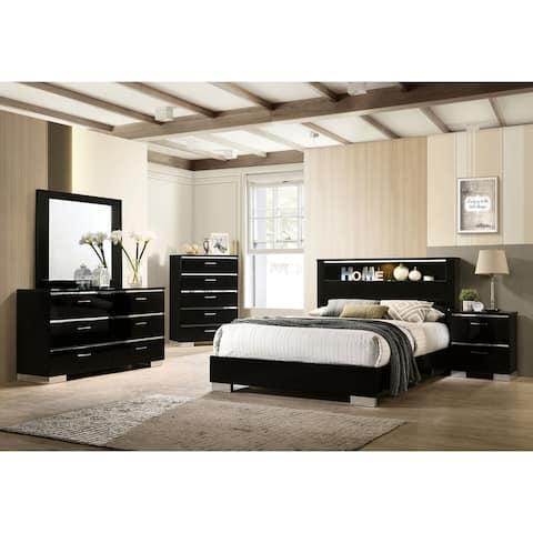 Furniture of America Lofa Contemporary Black Bedroom Set