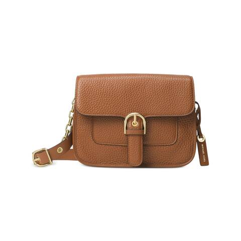 f188236d3fe1da MICHAEL Michael Kors Womens Cooper Messenger Handbag Leather Crossbody -  Medium
