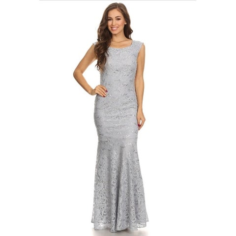 Lace Gown with Sequins