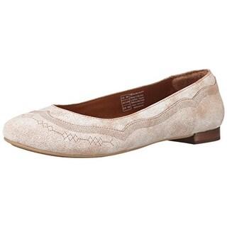 Ariat Womens Dreamer Leather Crackle Ballet Flats - 7.5 medium (b,m)