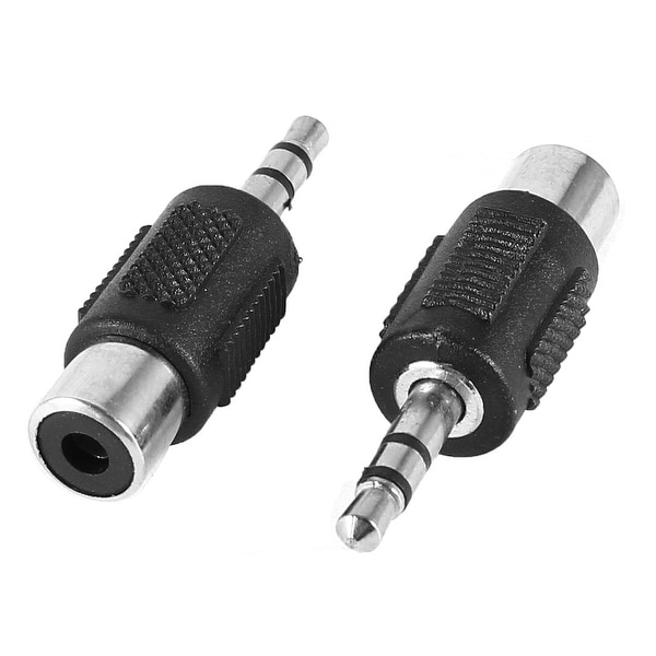 Unique Bargains 2 Pcs 3.5mm Male to RCA Female m/f Stereo Audio Adapter Connector