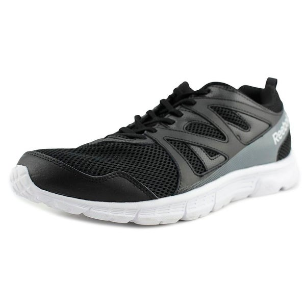 Reebok Run Supreme 2.0 Men 4E Round Toe Synthetic Black Sneakers