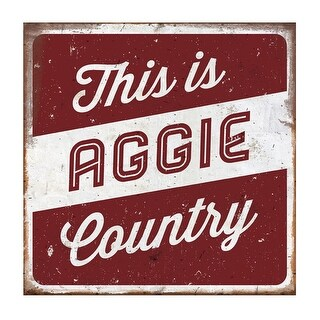 Texas A&M University Large Tin Sign