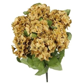 Admired by Nature GPB730-NUTMEG Artificial Full Blooming Stain Hydrangea Nutmeg