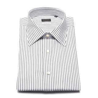 Valentino Men's Slim Fit Cotton Dress Shirt White/Black - 17 us (43 eur)