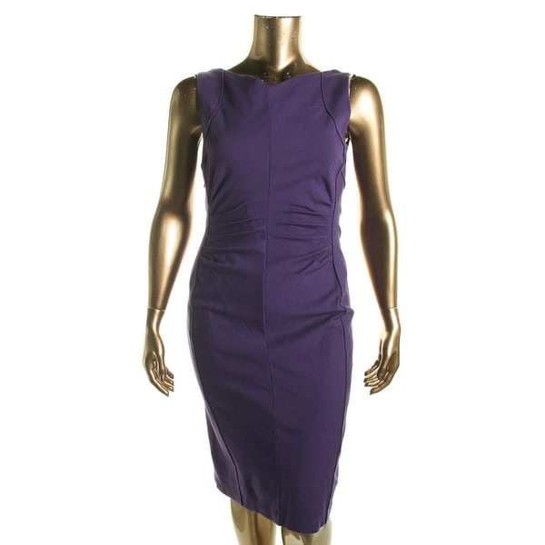 Kobi Halperin Womens Amina Wear to Work Dress Ruched Sleeveless