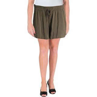 French Connection Womens Plus Dress Shorts Slouchy Drawstring