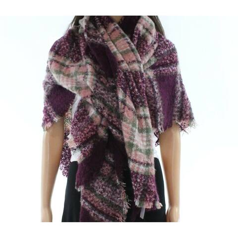 David & Young Womens Deep One Plaid-Printed Square Scarf