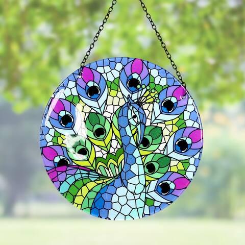 Hanging Mosaic Peacock Suncatcher