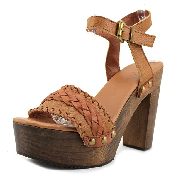 Sixtyseven 77538 Women Open Toe Leather Brown Sandals