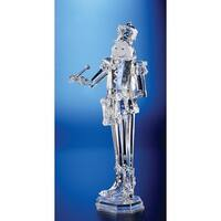 "Pack of 2 Icy Crystal Decorative Christmas Nutcracker Drummer Figure 18"" - Clear"