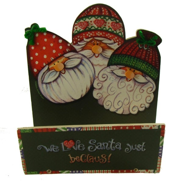 Club Pack of 72 Just Beclaus Santa Claus Christmas Greeting Card Holders - green