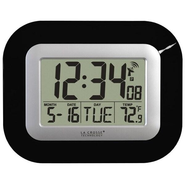 La Crosse Technology WT-8005U-B Digital Atomic Wall Clock, Black