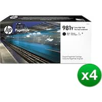 HP 981Y Extra High Yield Black Original Ink Cartridge (L0R16A)(4-Pack)