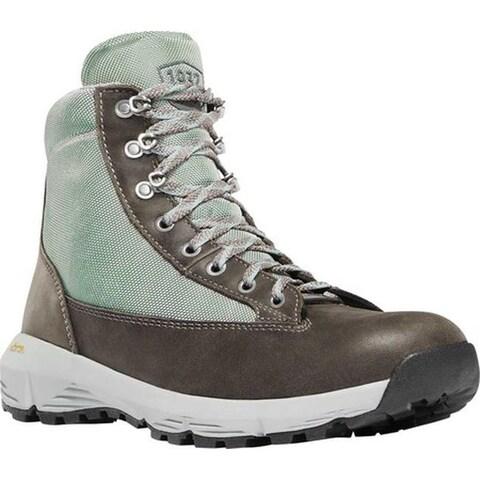 """Danner Women's Explorer 650 6"""" Hiking Boot Grey/Atlantic Blue Full Grain Leather/Nylon"""