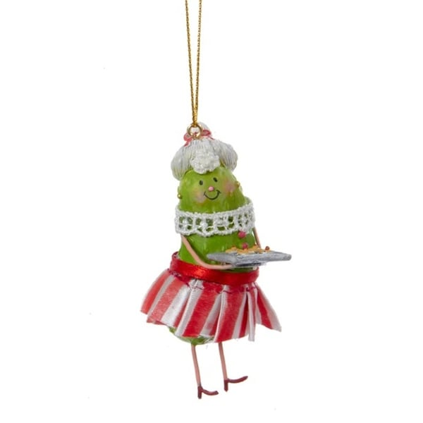 "3.5"" Mrs. Santa Claus Pickle People Decorative Christmas Ornament"