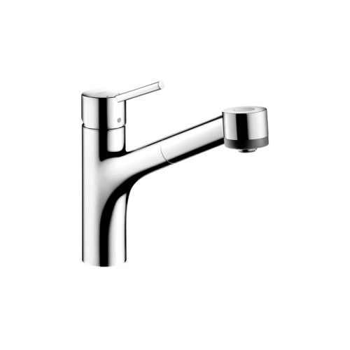 Hansgrohe 6462 Talis S Pull-Out Kitchen Faucet with Locking Spray Diverter - Includes Lifetime Warranty
