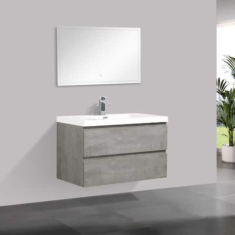 Alma-Pre Wall Mount Vanity with Reinforced Acrylic Composite Sink