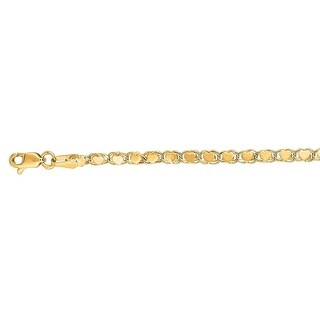 Mcs Jewelry Inc 14 KARAT YELLOW GOLD SOLID HEART CHAIN BRACELET