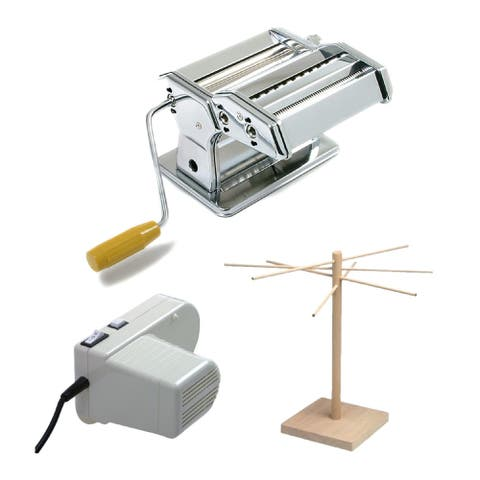 Norpro Homemade Noodle Master Deluxe Motorized Pasta Making Kit Silver