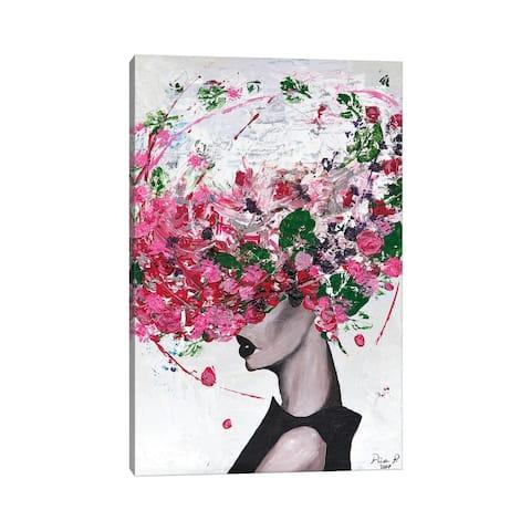 "iCanvas ""Lady Bloom"" by Piia Pievilainen Canvas Print"