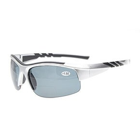 e8728e03ff34 Shop Eyekepper TR90 Sports Bifocal Half Rimless Sunglasses Silver Frame  Grey Lens +1.0 - Free Shipping On Orders Over $45 - Overstock.com - 15946957