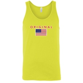Men's USA Flag Tank Top The Original American Patriotic Stars & Stripes Pride Tee