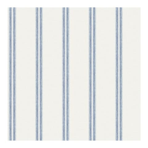 Johnny Navy Stripes Wallpaper - 20.5 x 396 x 0.025