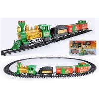 20-Piece Battery Operated Lighted & Animated Christmas Express Train Set with Sound