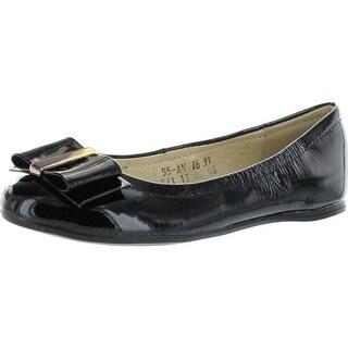 Venettini Girls 55-Angie Dress Ballerina Flats Shoes - Grey