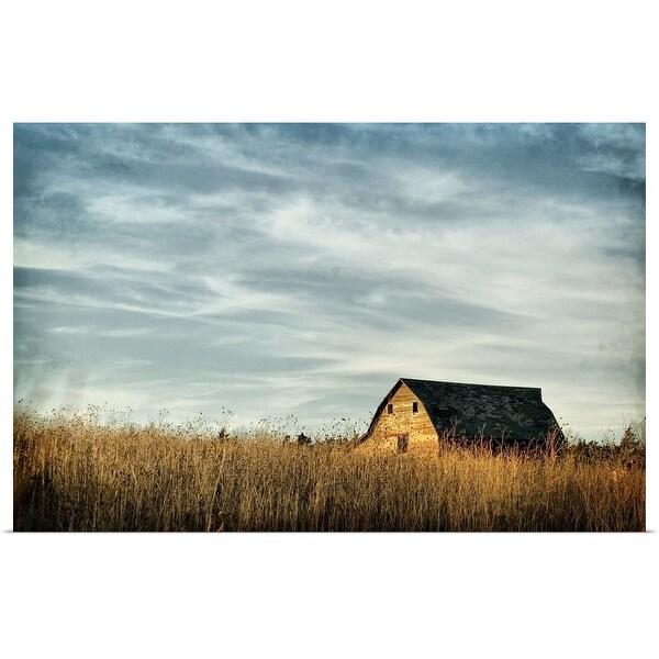 """Saskatchewan barn"" Poster Print"