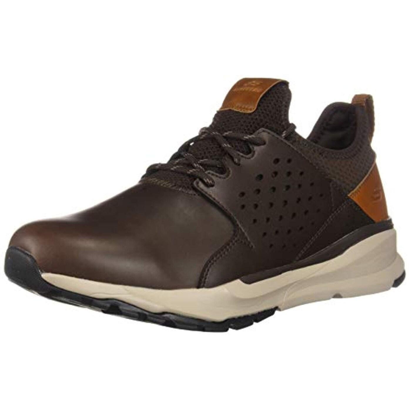 Skechers Men's Relven Hemson Sneaker, Chocolate, 10.5 Medium Us