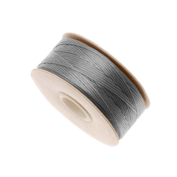 NYMO Nylon Beading Thread Size D for Delica Beads Grey 64YD (58 Meters)