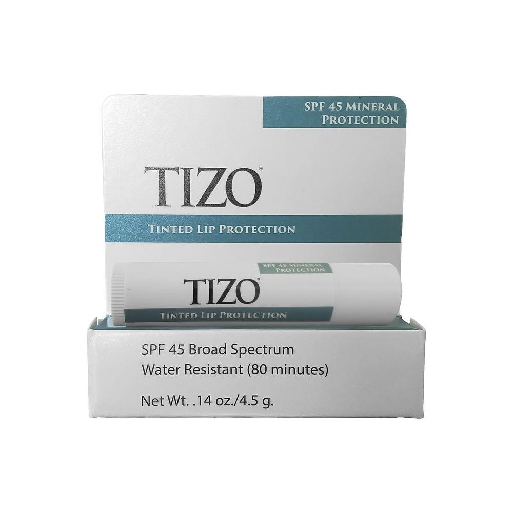 Tizo SPF 45 Tinted Lip Protection 0.14 oz / 4.5 g - 0.14 oz / 4.5 g (Travel Size - SPF 45 - 0.14 oz / 4.5 g - Lip Sunscreen)