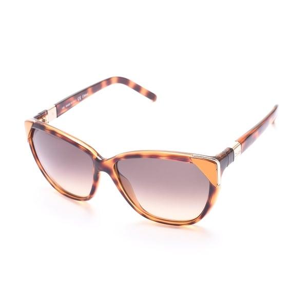 Chloe Women's Cat Eye Sunglasses Tortoise/Orange - Orange - Small