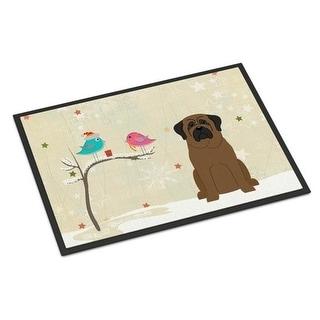 Carolines Treasures BB2556MAT Christmas Presents Between Friends Bullmastiff Indoor or Outdoor Mat 18 x 0.25 x 27 in.