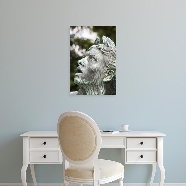 Easy Art Prints William Sutton's 'A Statue At Luxembourg Gardens' Premium Canvas Art