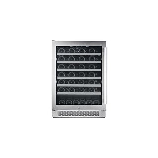 "Avallon AWC241SZLH 24"" Wide 54 Bottle Capacity Single Zone Wine Cooler with Left Swing Door - STAINLESS STEEL - N/A"