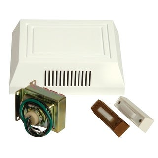Craftmade C102L Builder ADA Compliant Door Chime Kit - Single Chime, Two Pushbuttons and 16V Transformer Included (2 options available)