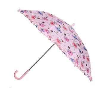 CTM® Kid's Ballerina Print Stick Umbrella - One size