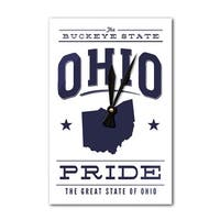 Ohio State Pride - Blue on White - LP Artwork (Acrylic Wall Clock) - acrylic wall clock