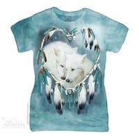 The Mountain Cotton Wolf Heart Design Novelty Womens T-Shirt