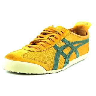 Onitsuka Tiger by Asics Mexico 66 Men Round Toe Leather Orange Sneakers