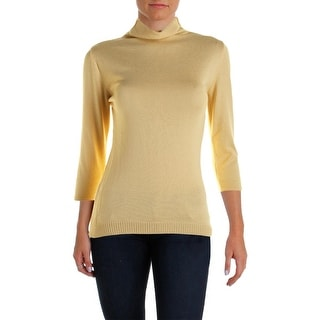 Parkhurst Womens Fitted 3/4 Sleeves Pullover Sweater