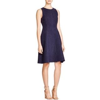 Theory Womens Udela Wear to Work Dress Tweed Textured